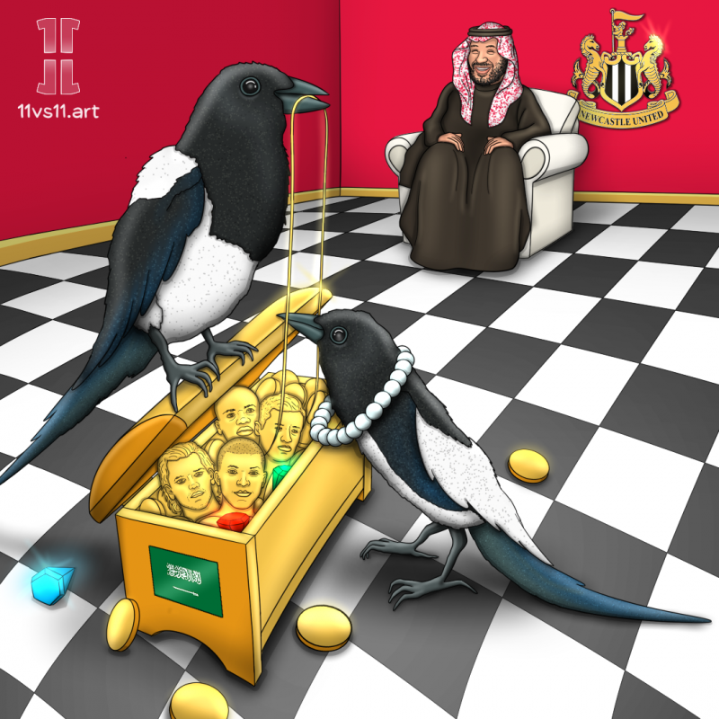 Newcastle United with bin Salman